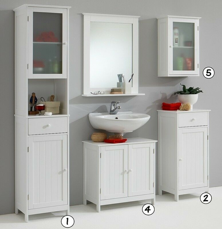 stockholm white bathroom vanity unit cabinets and cupboards ebay