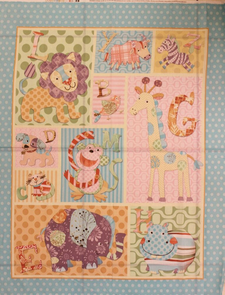 Baby Alphabet Zoo Quilt Panel by Springs Creative bty eBay