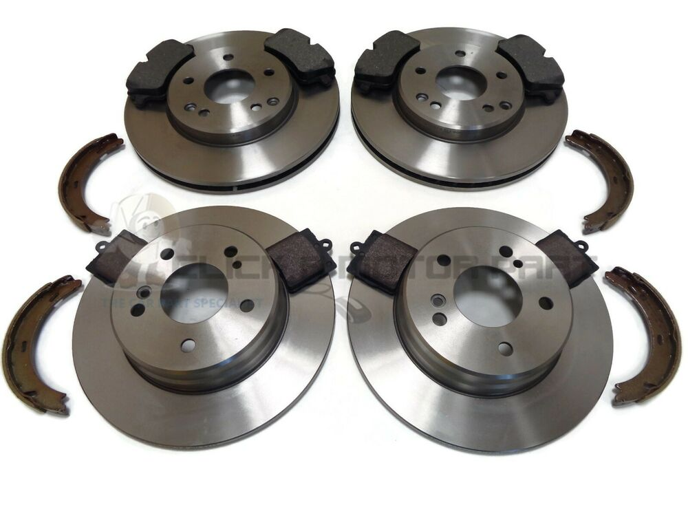 mercedes c180 c200 c220 cdi front rear brake discs pads handbrake shoes ebay. Black Bedroom Furniture Sets. Home Design Ideas
