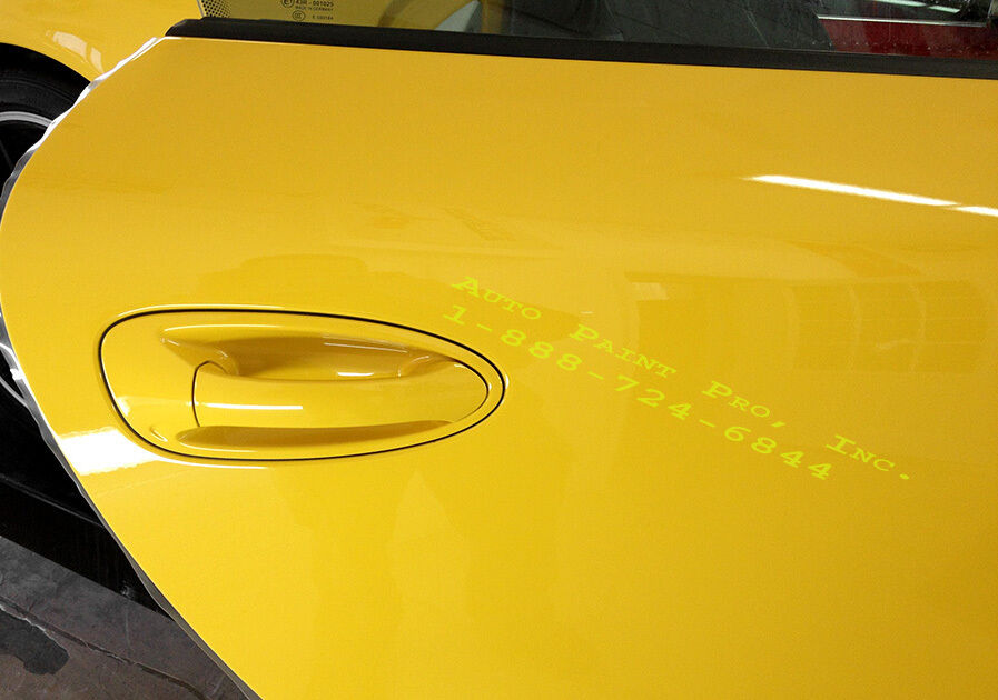 Chrome Yellow Urethane Basecoat Clearcoat Auto Body Shop