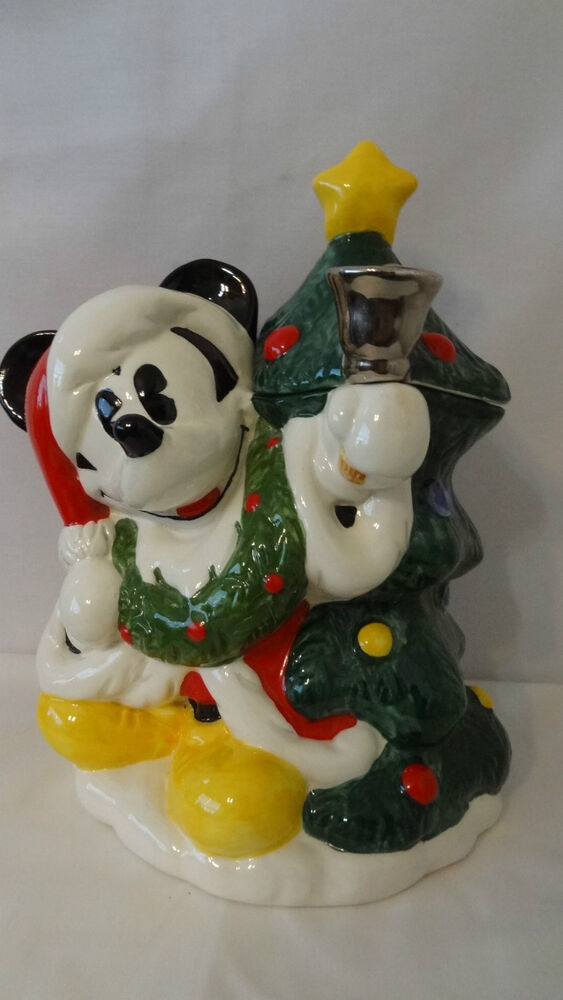 Walt Disney Mickey Mouse Christmas Tree Cookie Jar E659