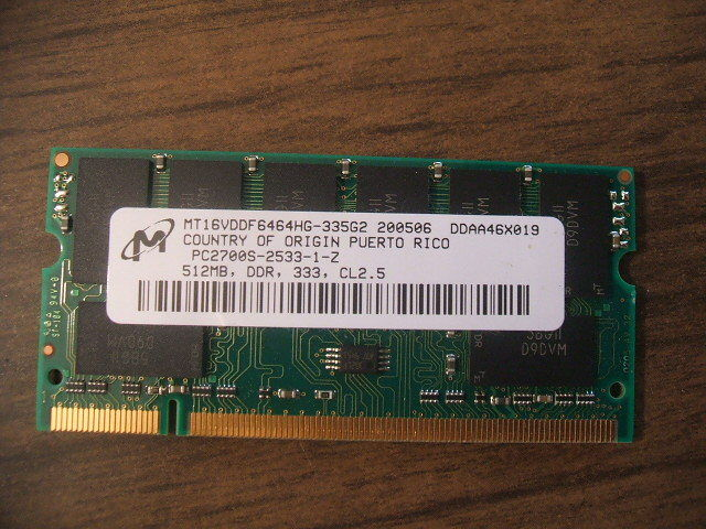 512mb Ram Memory Chip Pc27000 Pc2700s Powerbook G4