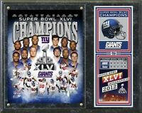 New York Giants Super Bowl XLVI Champions Plaque