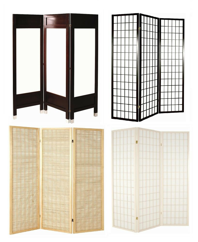 Panel Folding Room Divider Privacy Screen 3 Styles Choice Of Colour S