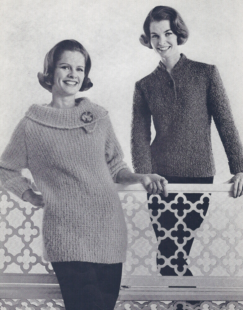 Knitting History Facts : Vintage knitting pattern to make s two collared