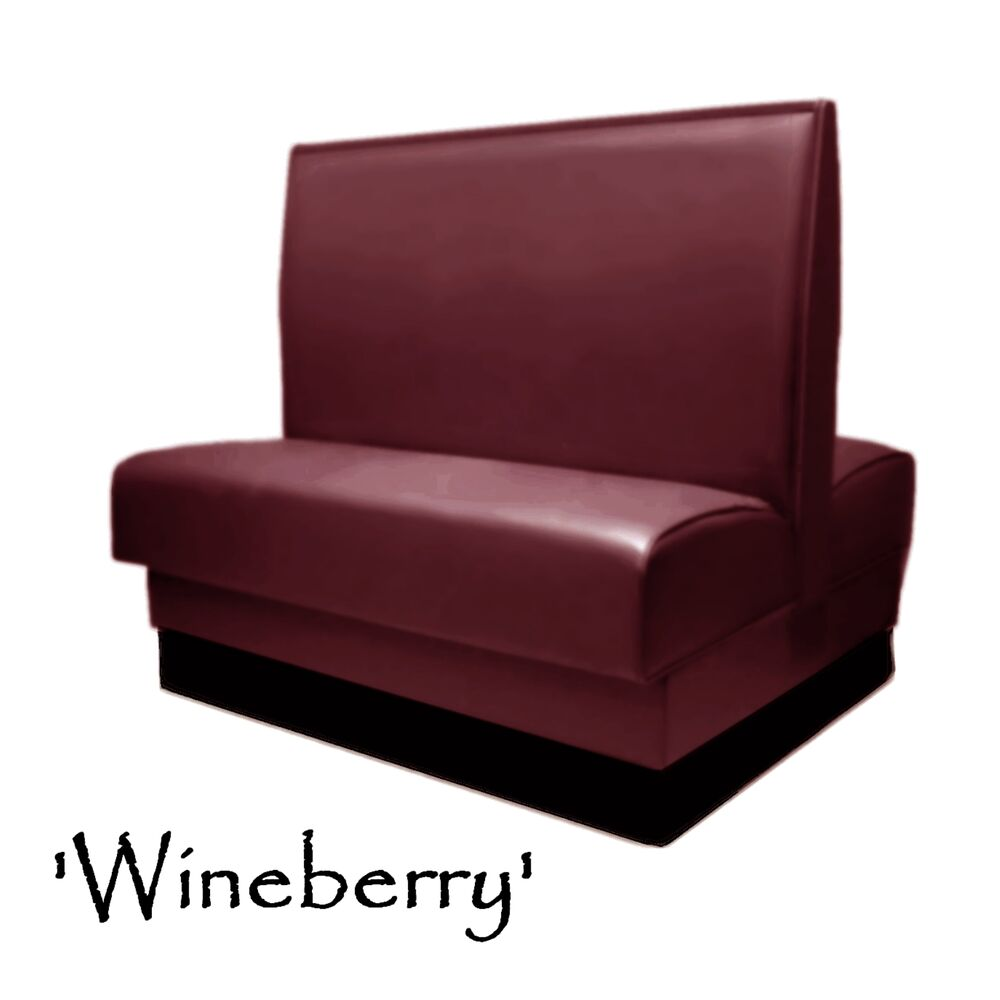 Double Restaurant Booth Wineberry Custom Color Diner Booth
