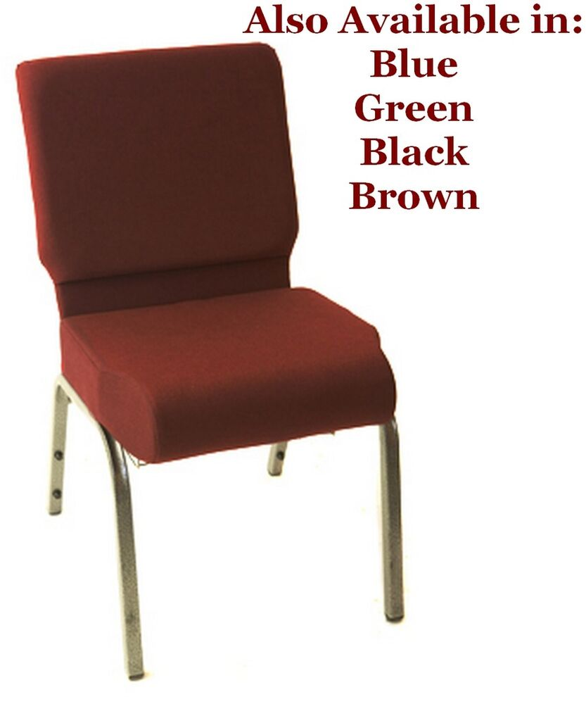 Church Chairs Burgundy Stackable Classic Collection