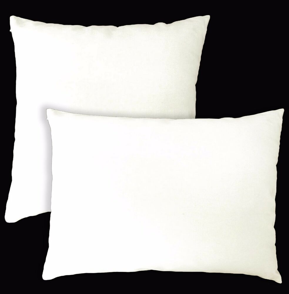 Aa133a Plain Cream White Cotton Canvas Cushion Cover