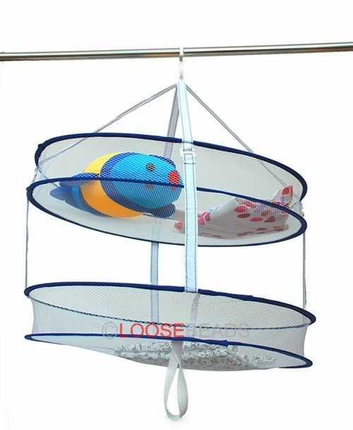 1pcs double hanging sweater drying rack folding mesh clothes dryer 261564 ebay. Black Bedroom Furniture Sets. Home Design Ideas