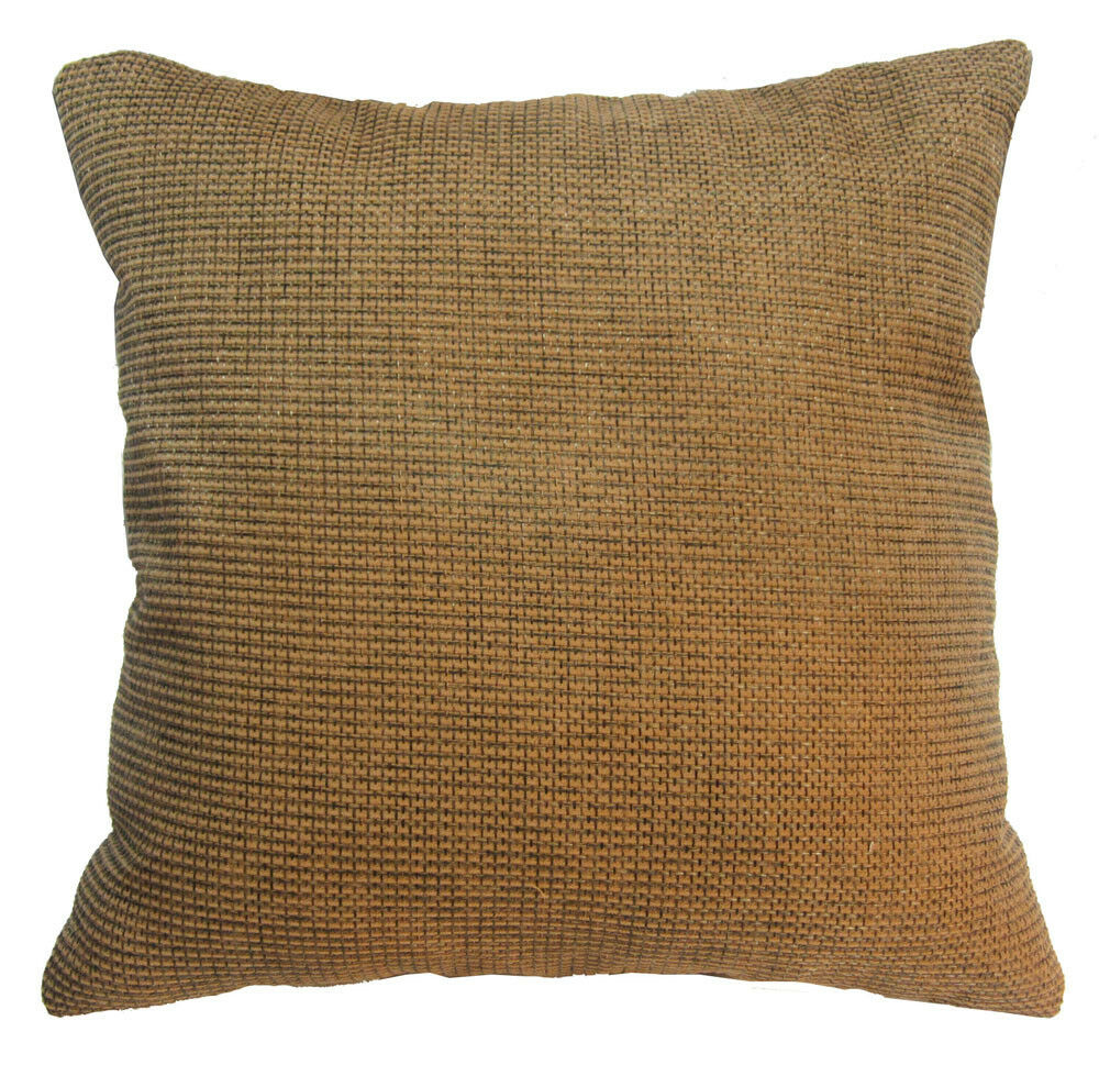 Qe03a light brown rough cotton blend sofa cushion cover for Brown leather sofa cushion covers