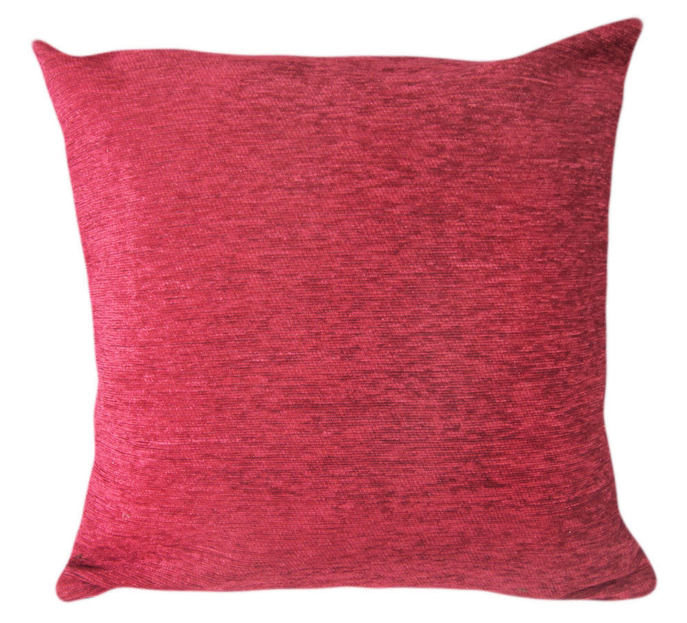 How To Measure Throw Pillow Covers : Wb10Ba Plain Red Chenille Cotton Throw Cushion Cover/Pillow Case*Custom Size* eBay