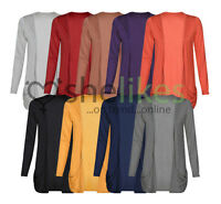 Women Ladies Cardigan Boyfriend Pocket Open Jumpers Top Long Sleeve UK all sizes