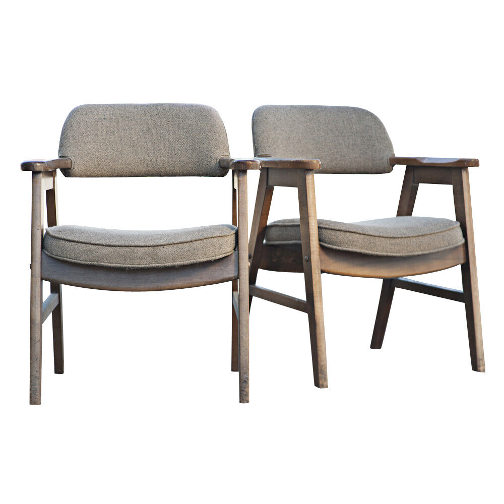 2 Mid Century Modern Seba Scandinavian Arm Chairs MR12295 EBay