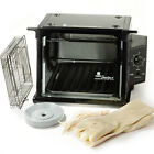 Ronco Showtime Rotisserie Oven +Kit Compact Countertop Black Electric BBQ Cooker