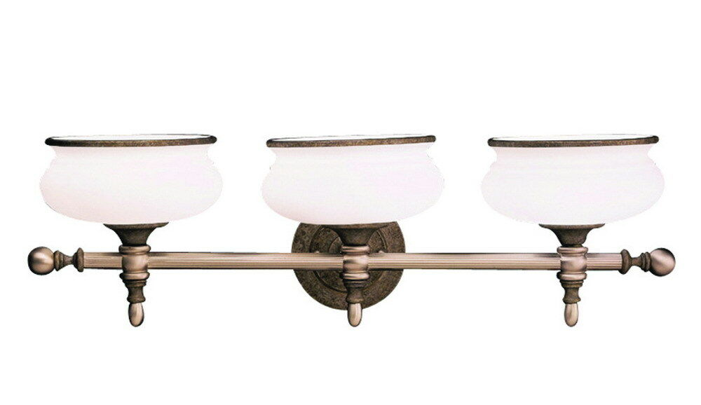 TRUSCAN GOLD ANTIQUE PEWTER 3 LIGHT BATH WALL FIXTURE EBay