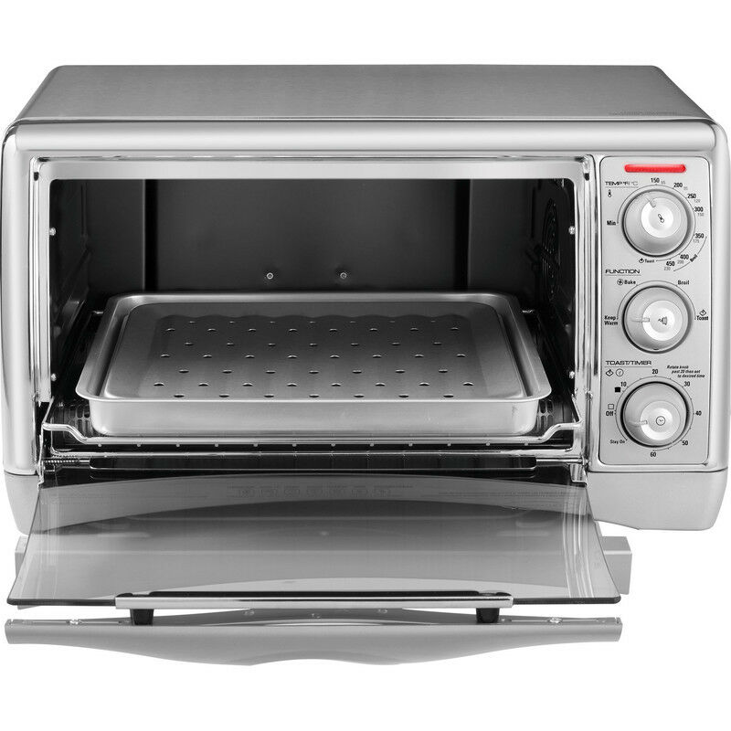 Countertop Oven Baking : Countertop Convection Oven Broiler 6 Slice Toaster Capacity Bake Broil ...