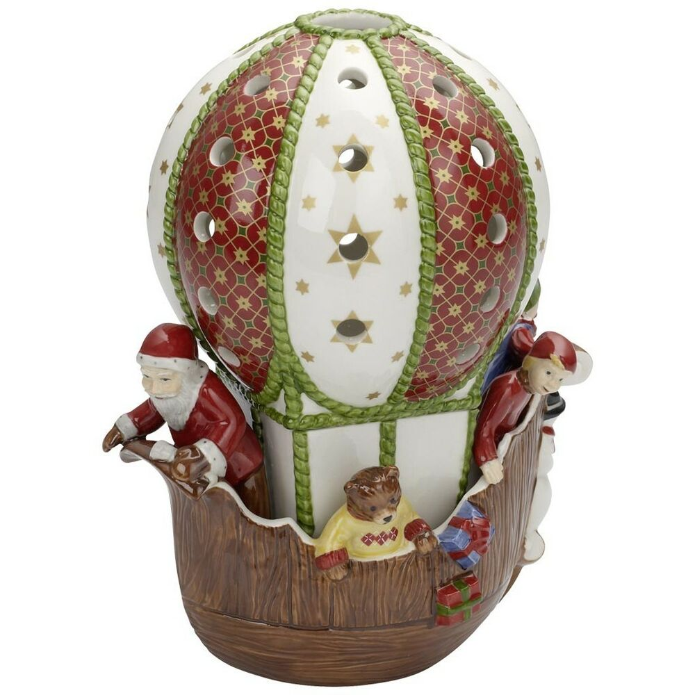 villeroy boch nostalgic dreams santa on hot air balloon 5881 ebay. Black Bedroom Furniture Sets. Home Design Ideas
