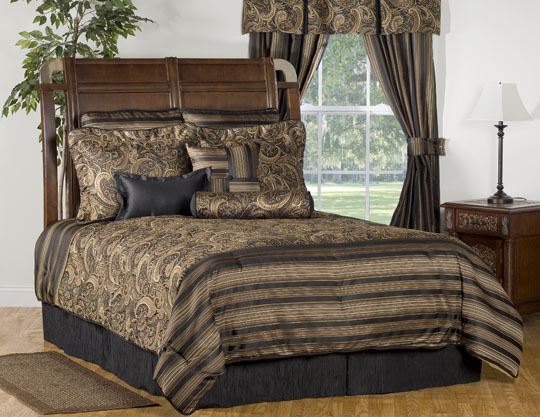 Black Paisley Bedding Sets