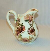Laguna California Pottery Painted Abstract Gold Rose Pitcher Signd Calpotter