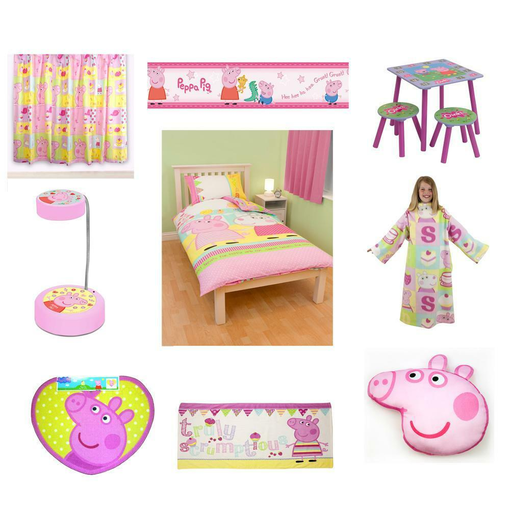 peppa pig bedroom peppa pig bedding amp bedroom accessories new free 12817