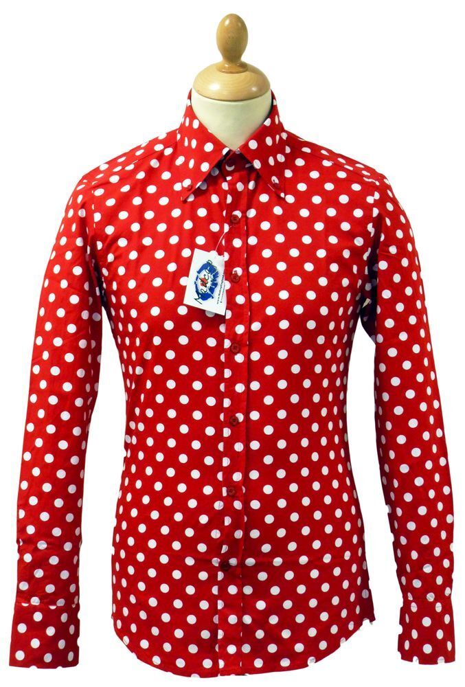 NEW SIXTIES MENS RETRO MOD PENNY DOT POLKA DOT SHIRT: Vintage ...