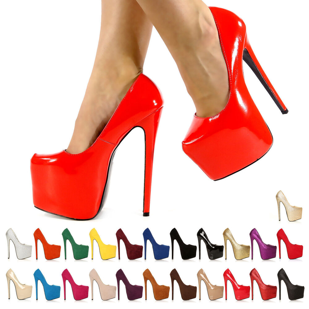 Ladies Blue Heels
