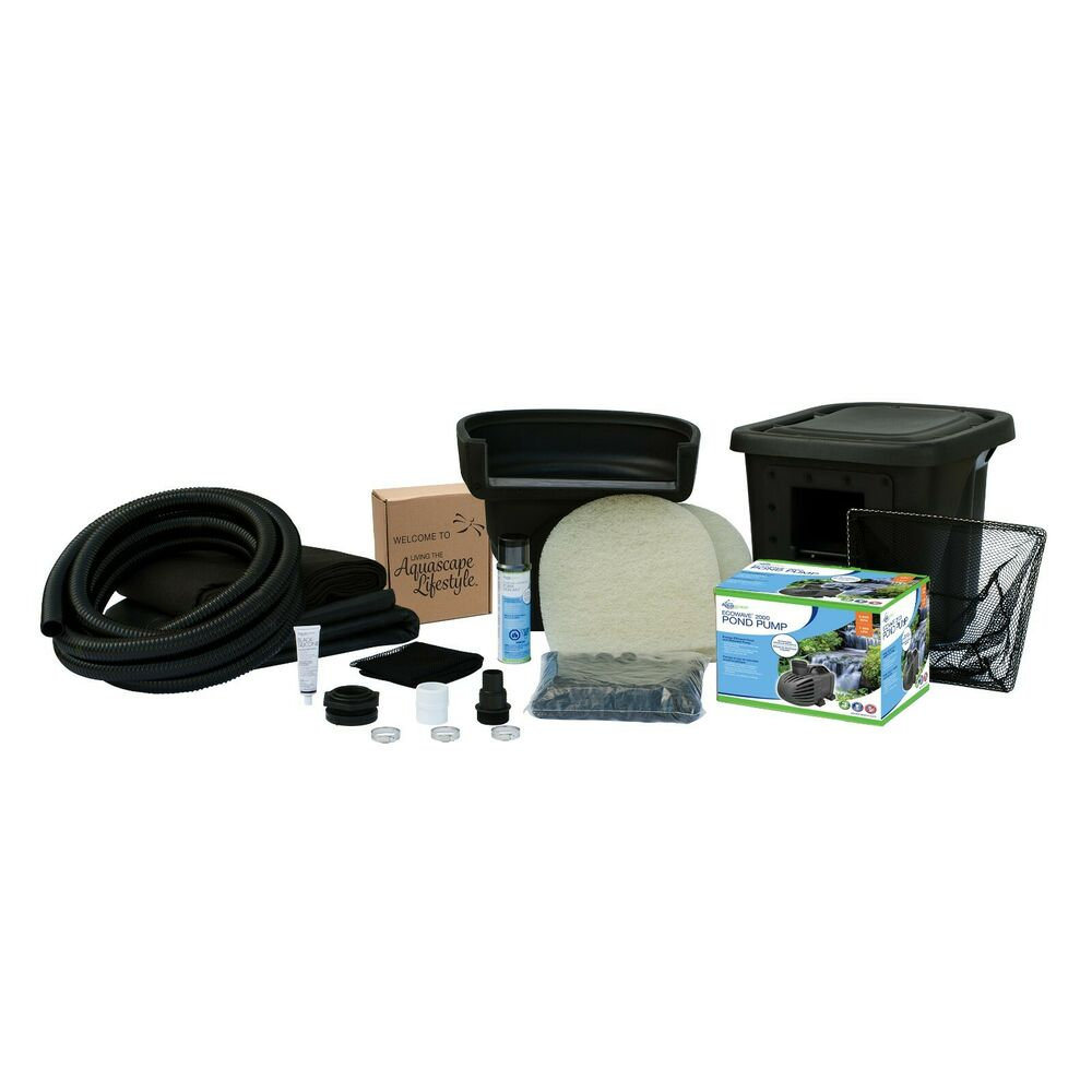 Aquascape pond kit 8 39 x11 39 w waterfall medium water garden for Outdoor fish pond supplies