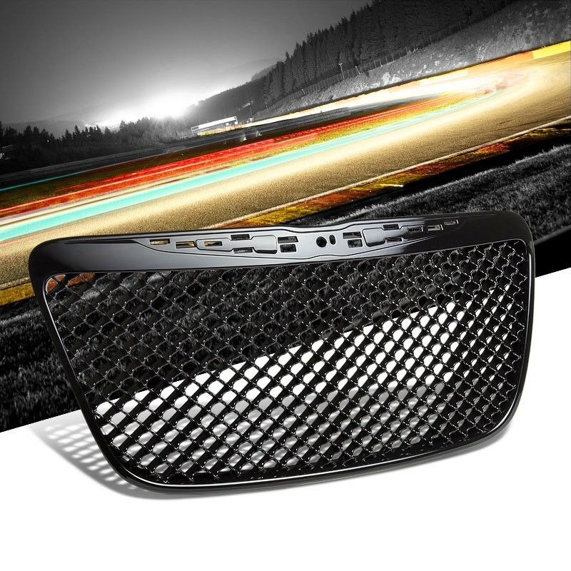 Front Bentley Mesh Style Black Replacement Grille For