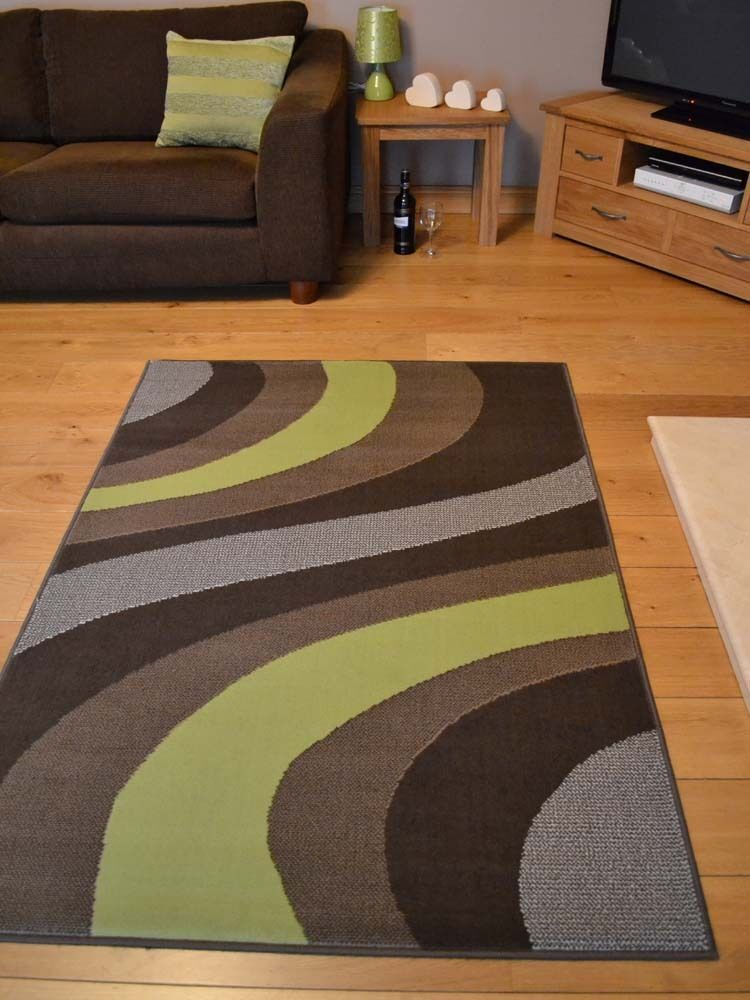 New lime green and brown small extra large huge size floor for Largest area rug size