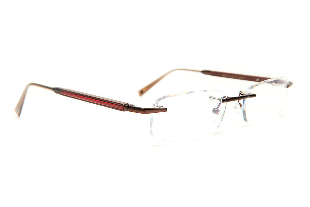 Rimless Gold Eyeglass Frames : GOLD AND WOOD RIMLESS EYEGLASSES GLASSES SUNGLASSES AcRc33 ...
