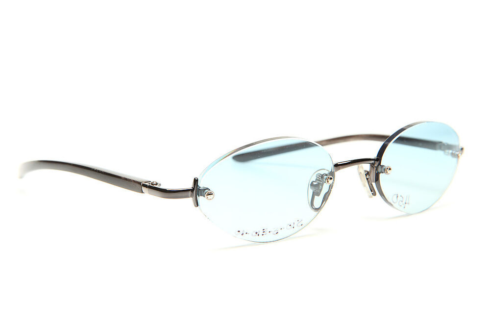 Rimless Gold Eyeglass Frames : GOLD AND WOOD RIMLESS EYEGLASSES GLASSES SUNGLASSES #61A ...