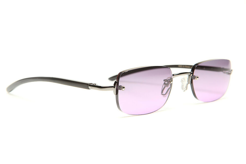 Rimless Gold Eyeglass Frames : GOLD AND WOOD RIMLESS EYEGLASSES GLASSES SUNGLASSES S16 5 ...