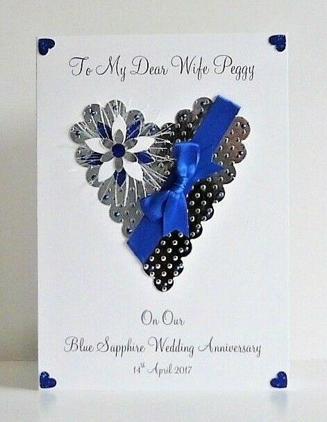 Th sapphire wedding anniversary card wife
