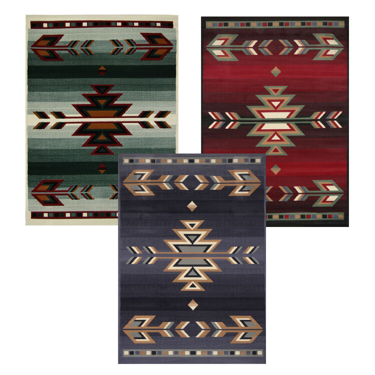 Rustic Kitchen Area Rugs: Rustic Southwestern 5x8 Arrows Lodge Style Cabin Area Rug