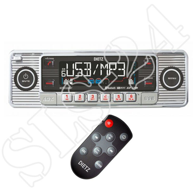 retro look autoradio usb sd mmc cd mp3 player mit. Black Bedroom Furniture Sets. Home Design Ideas