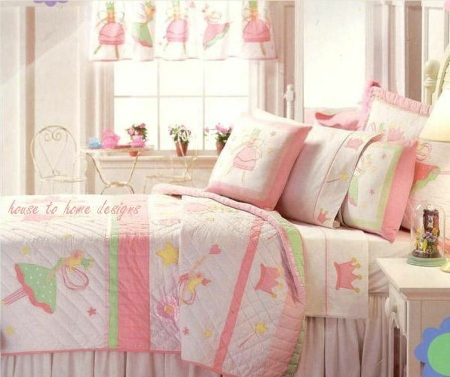 FAIRY BALLERINAS Twin QUILT SET