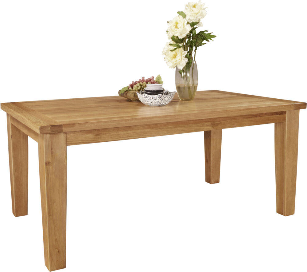 Roma solid oak dining room furniture 270 cm extending for Oak dining room table