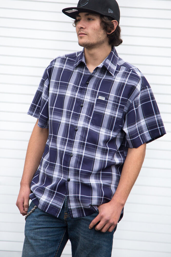 Caltop brand short sleeve plaid shirts ebay Short sleeve plaid shirts