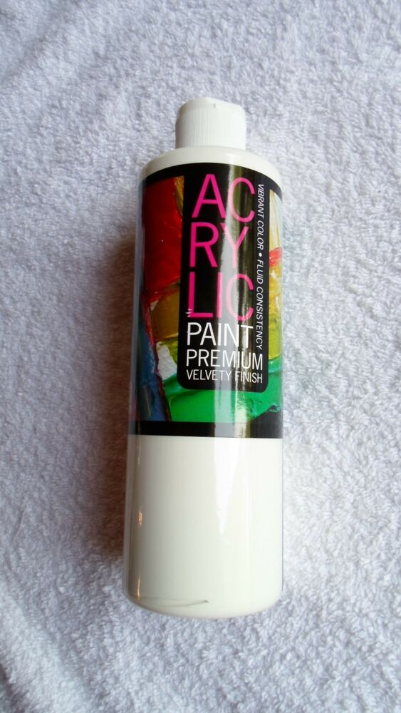 Huge 16 oz titanium white acrylic paint terrific buy ebay for Where to buy lucite