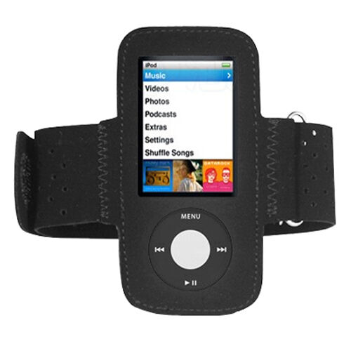black sports fitness armband running gym case cover apple ipod nano 5th gen 5g ebay. Black Bedroom Furniture Sets. Home Design Ideas