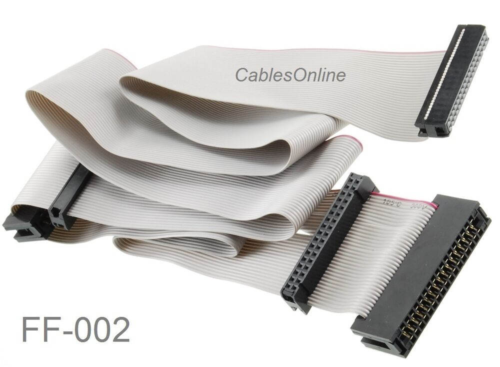 34 Pin Ribbon Cable : Quot universal pin floppy drive ribbon cable for or