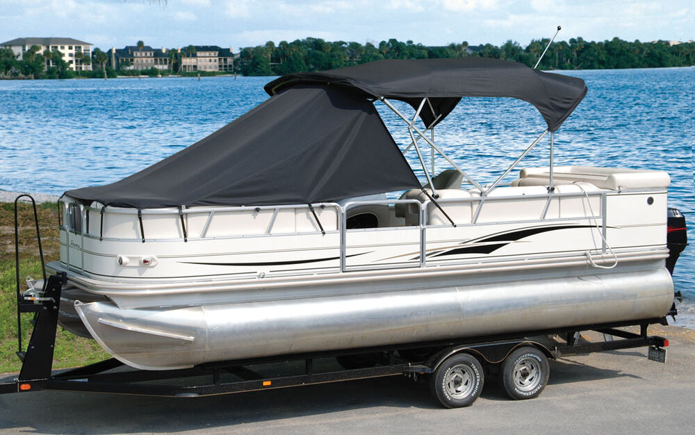 pontoon shade boats playpen boat sun bimini tops covers length accessories shades taylor option protection alternate way easy