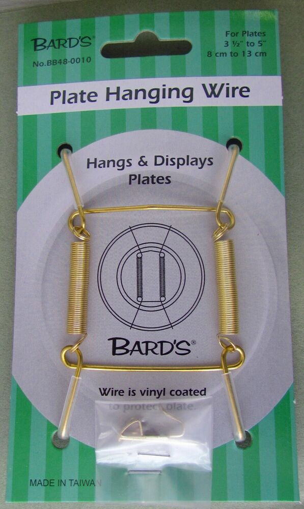 tray and platter hanger plate hanging wire displays