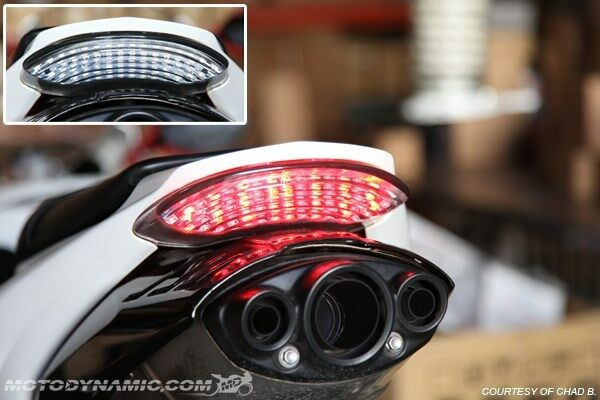 Triple R Motors >> 2006-2012 Triumph Daytona 675 675R SEQUENTIAL Signal LED Tail Light Clear Lens | eBay
