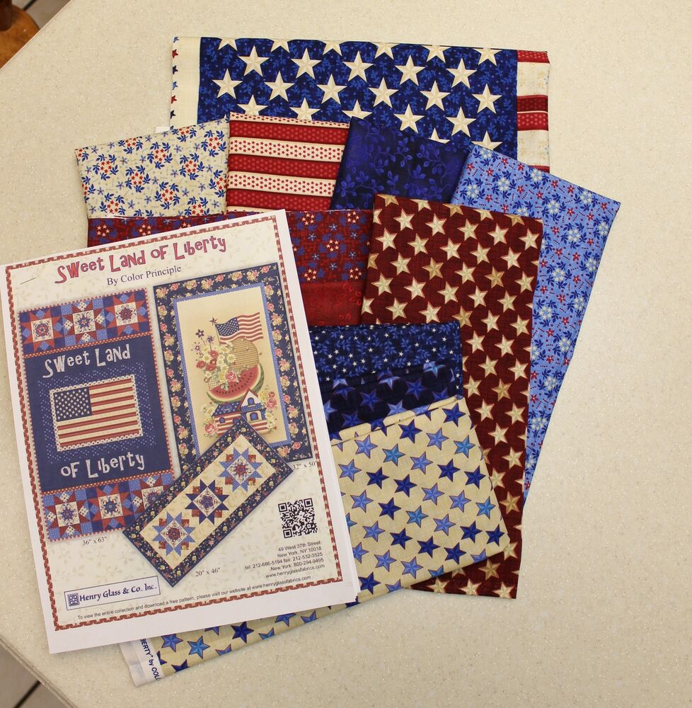 Sweet Land Of Liberty Wall Hanging Quilt Kit By Henry