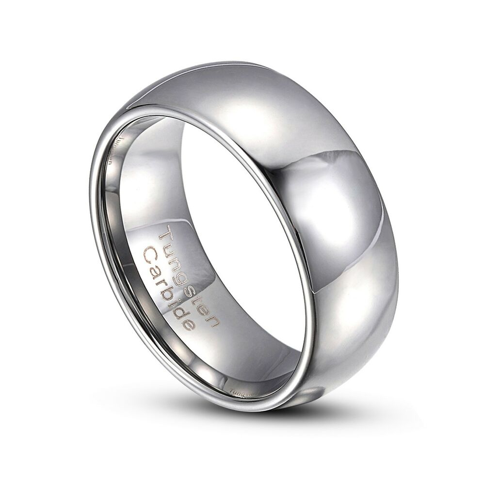 gray tungsten carbide 2mm 8mm comfort fit wedding band