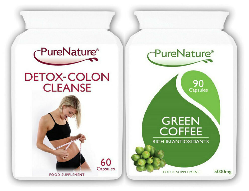 90 Green Coffee Bean Extract 15000mg Daily + 60 Detox Colon Cleanse Diet Pills | eBay
