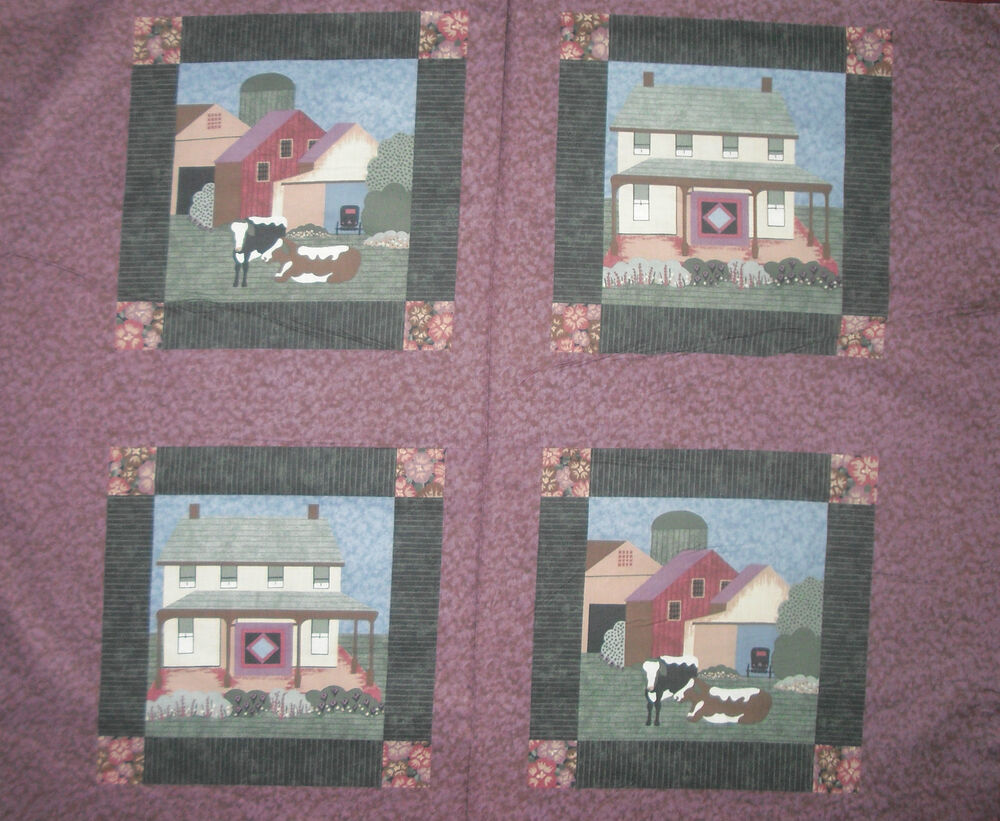 7 8 Yds Rjr Almost Amish Panel Quilt Fabric Sale Ebay
