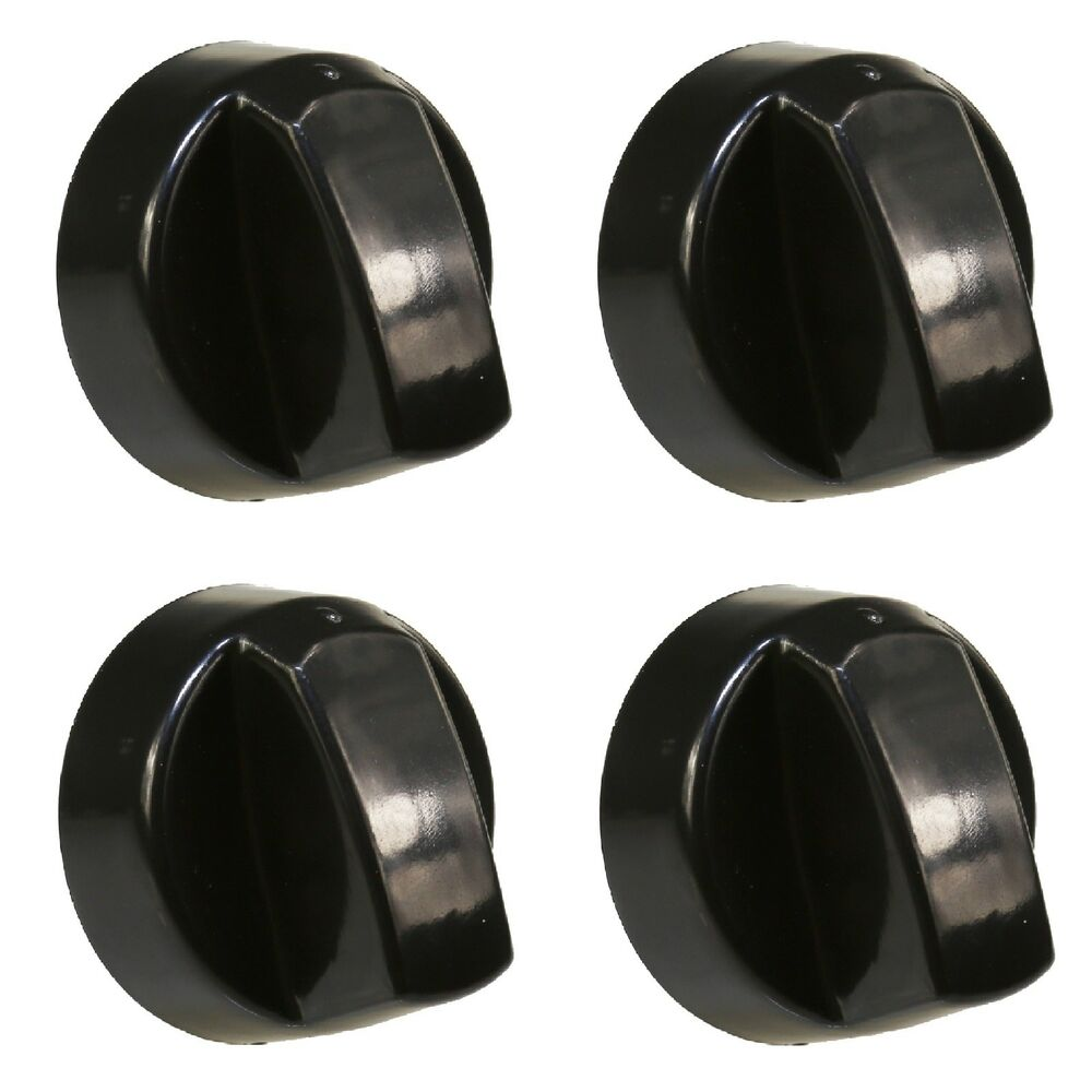 4 X Universal Hotpoint Cooker Oven Hob Control Knobs Black