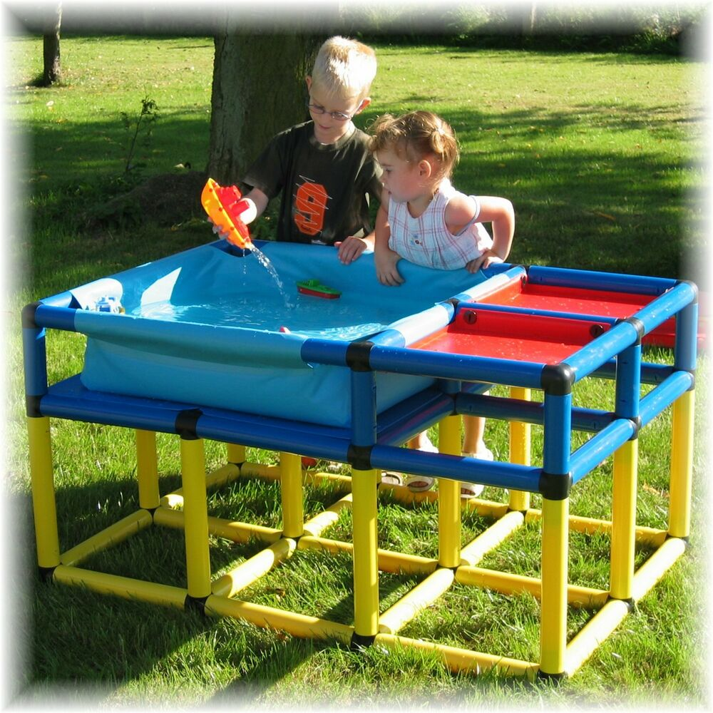 moveandstic sand und wasserspieltisch matschtisch spieltisch wasser wassertisch ebay. Black Bedroom Furniture Sets. Home Design Ideas